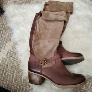 Lucky Brand Heeled Leather Boots Size 10